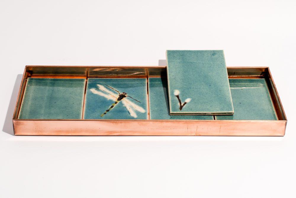 Kobberbakke_15x42x3cm_lys blå kakler